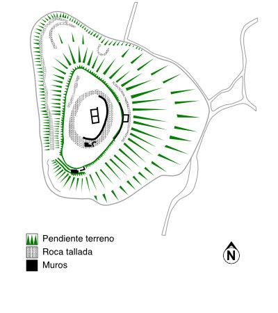 Castillo de Tudela. Planta general.