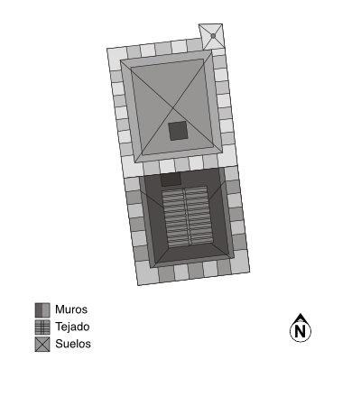 Castillo de Tudela. Planta del torreón.